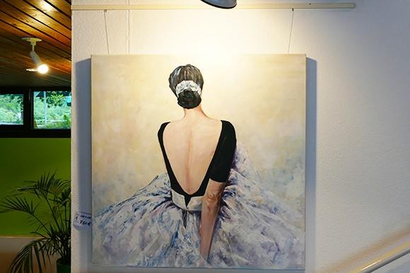 Gemälde einer Ballerina von Waltraud Ardaneh.